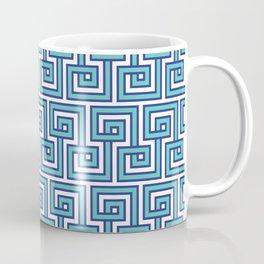 Greek Key - Turquoise Coffee Mug
