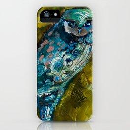 """Owl Eyes I"" by Lindsay R. Wiggins iPhone Case"