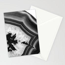 Gray Black White Agate Chic #1 #gem #decor #art #society6 Stationery Cards