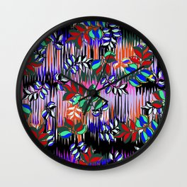 High Definition Leaves Wall Clock