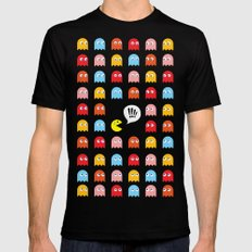 Pac-Man Trapped MEDIUM Black Mens Fitted Tee