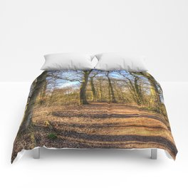 Spring Forest Path Comforters