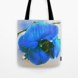 Blue Orchid Tote Bag
