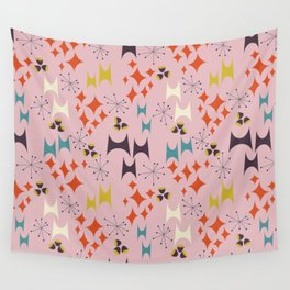 Deviled Starbursts Pink Wall Tapestry