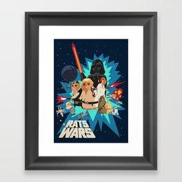 Star Wars FanArt: Rats Wars Framed Art Print