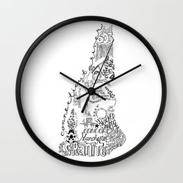 New Hampshire - Hand Lettered Map Wall Clock