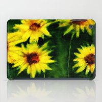 daisies iPad Cases featuring daisies by agnes Trachet