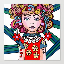 Style Girl - Ruby Canvas Print