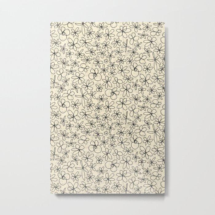 garland flowers ivory Metal Print