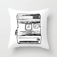 polaroid Throw Pillows featuring polaroid by brittcorry