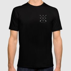 East & West Mens Fitted Tee Black MEDIUM