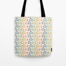 Honeycomb IKAT - Ivory Tote Bag