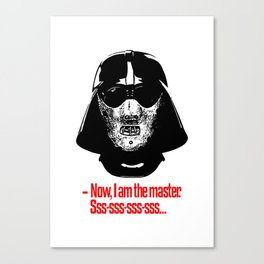 Darth Vader Hannibal Lecter mashup Canvas Print