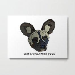 Save Wild Dogs Metal Print