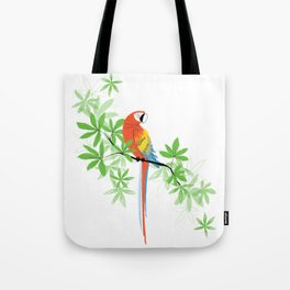 Tropical Parrot Summer Tote Bag