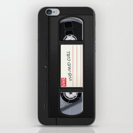 VHS and Chill iPhone Skin