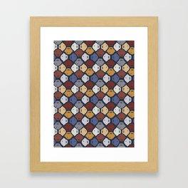 Navy Blue Fish Silhouette Framed Art Print