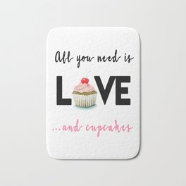 All you need is Love...and cupcakes n.1 Bath Mat
