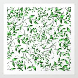 PALM LEAFY GREEN LEAVES Art Print