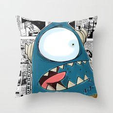The Horror of it all BYRON Black and White Version Throw Pillow