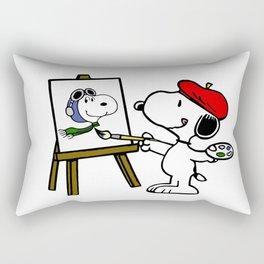 snoopy paint Rectangular Pillow