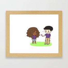 dferhrthrt Framed Art Print