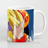dbz Mugs featuring DBZ - Goku, Vegeta and Vegeto by Mr. Stonebanks