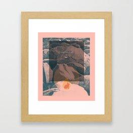 Dinner with the king Framed Art Print