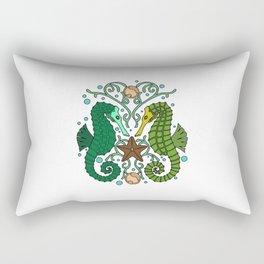 Seahorses Rectangular Pillow