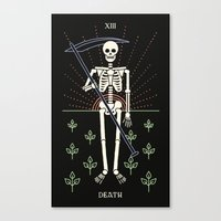 tarot Canvas Prints featuring Tarot: Death by Merlin