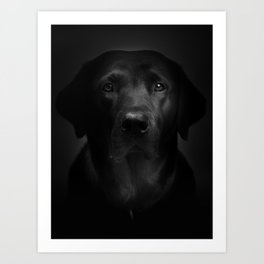I met a girl (Black and white version) Art Print