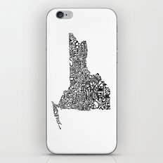 Typographic New York iPhone Skin