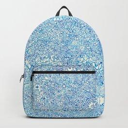 Blue Ornate Backpack