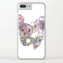 Pelvic Flora (Color) Clear iPhone Case