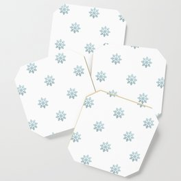 Blue Glitter Snowflake Coaster