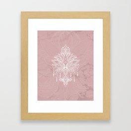 Blush pink mandala Framed Art Print