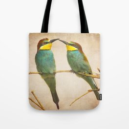 Love time. Bee-eaters Tote Bag