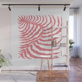 Pink Palm Leaf Wall Mural