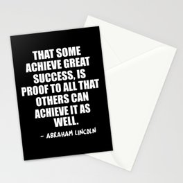 achieve great success Stationery Cards