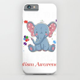 It's Ok To Be Different Elephant Autism Awareness T-Shirt iPhone Case