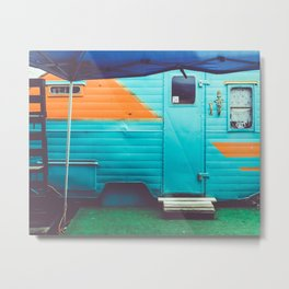 Blue Trailer Metal Print