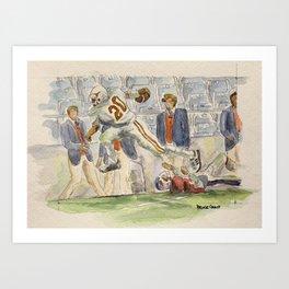 Earl Campbell Runningback Football Art Print