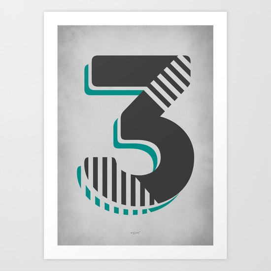 Number 3 Typography by workbydan