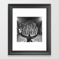Atlas in the Rain Framed Art Print