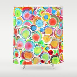 Sunshine on Your Spotty Mind (Alcohol Inks Series 07) Shower Curtain