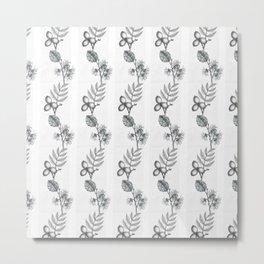 Walnut & Witch Hazel Pattern Metal Print