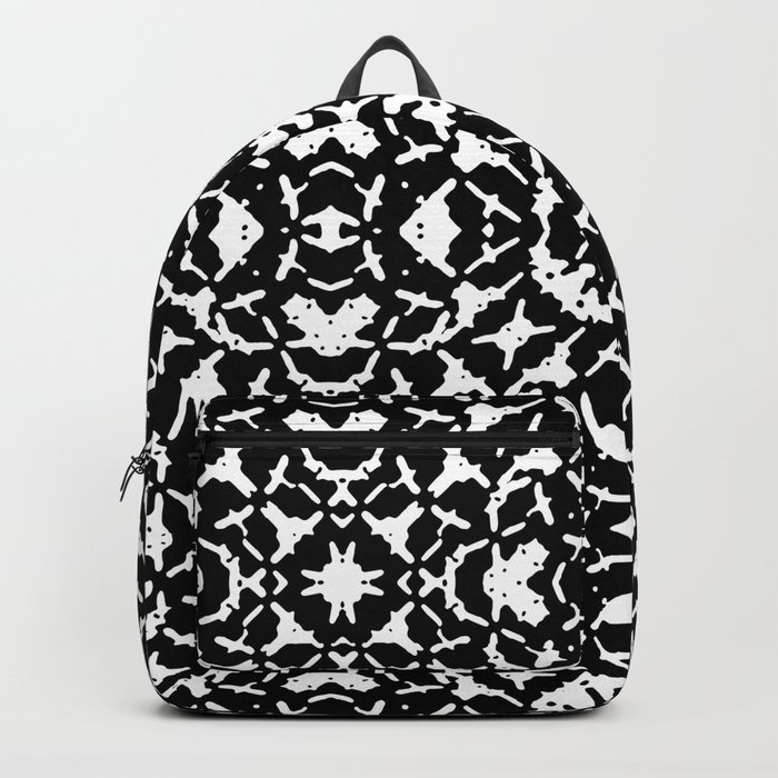 Black and White Geometric Pattern Backpack by danflcreativo  502f5a8b9d289