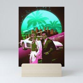 Miami Vice retro Mini Art Print