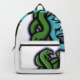 Medusa Greek God Mascot Backpack
