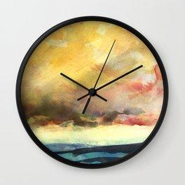 Yellow Sky Wall Clock